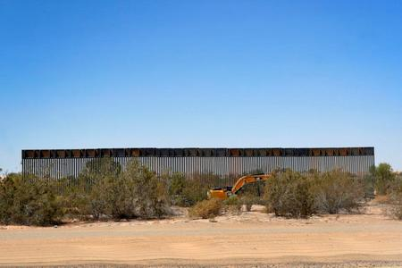 A section of the Pentagon-funded border wall along the Colorado River