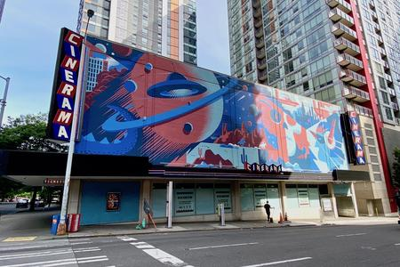 cinerama movie theater facade