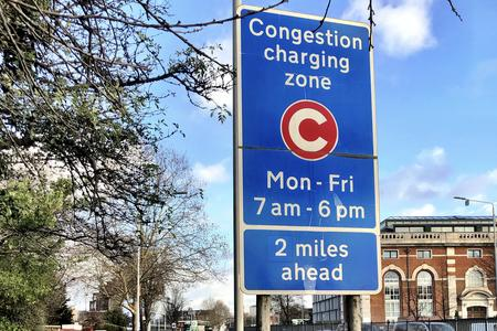 Congestion pricing sign
