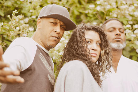 Digable Planets, three African American performers