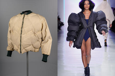 Eddie Bauer original down jacket vs. Chromat ripstop inflatable parka
