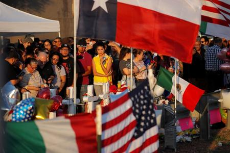 Mourners in El Paso