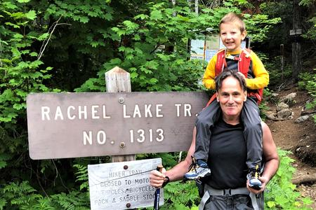 Author David Guterson at the Rachel Lake trailhead