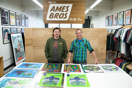 Ames Bros. founders Barry Ament and Coby Schultz in their SoDo studio