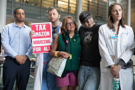 Housing activists at Seattle City Hall