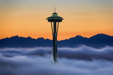seattle fog space needle