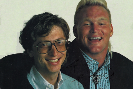 Bill Gates and Brian Bosworth