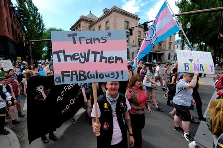 protest supporting trans rights
