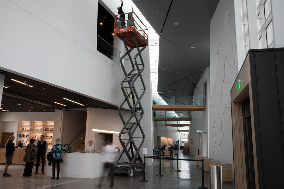 Interior view of the Nordic Museum in Seattle's Ballard neighborhood, April 27, 2018.