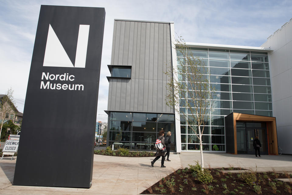 An exterior view at the Nordic Museum in Seattle's Ballard neighborhood, April 27, 2018.