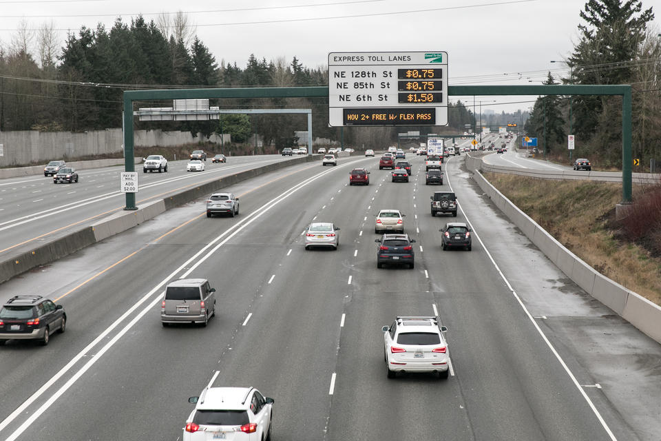 I-405 toll lanes are cutting traffic times — but not by