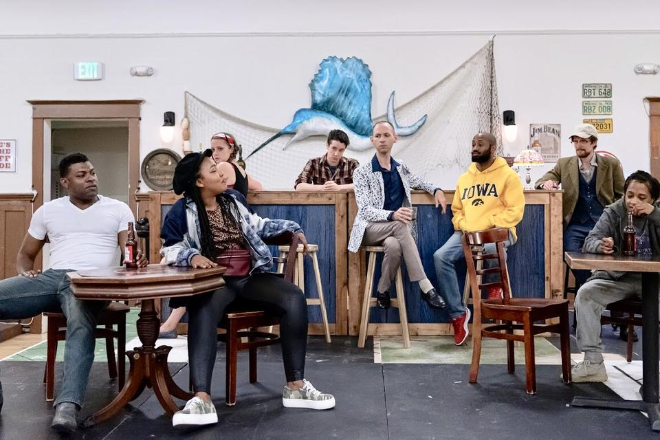 The cast of Small Craft Warnings, staged by The Williams Project