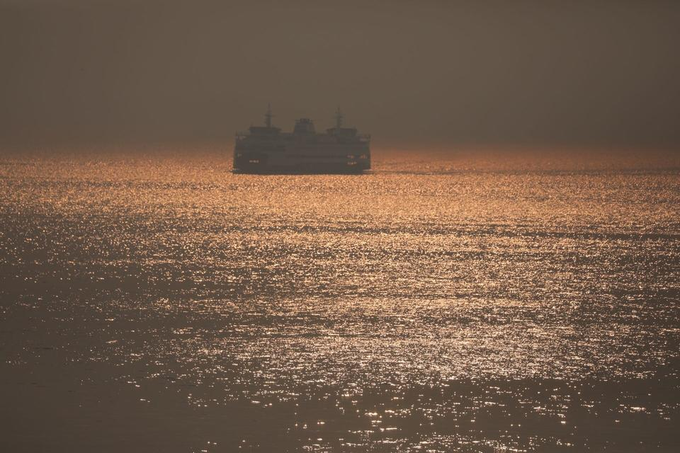 a ferry boat on puget sound