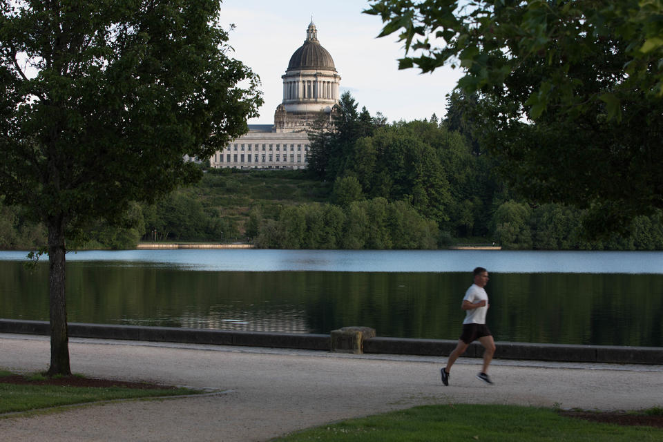 Washington state's capital building is seen in Olympia, Washington on Thursday, June 14, 2017. (Matt M. McKnight/Crosscut)