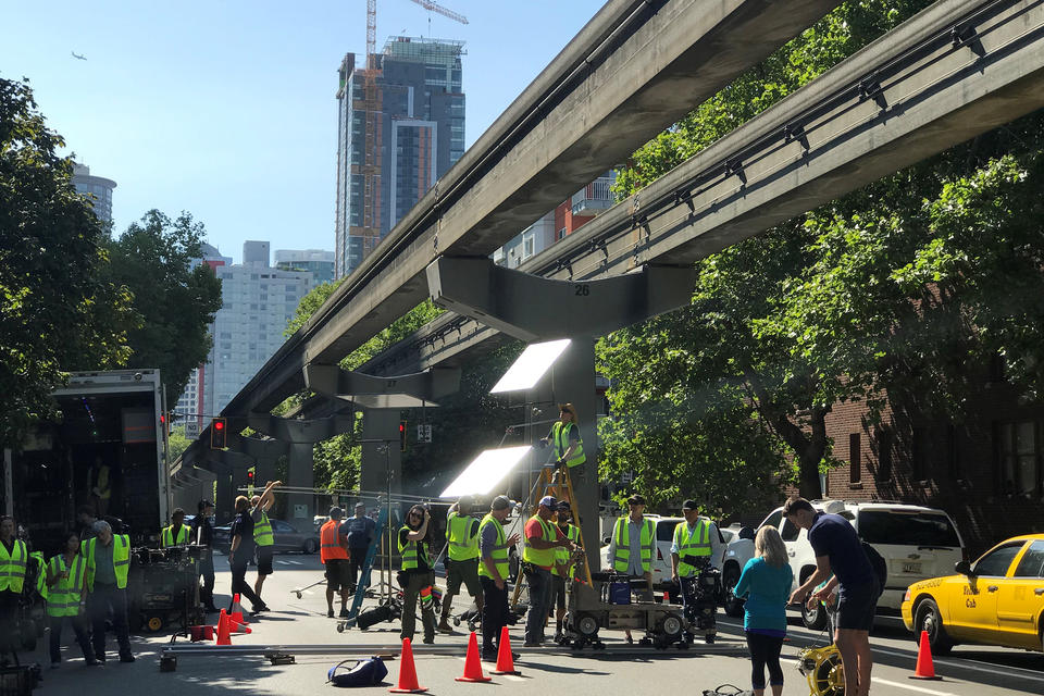 Seattle film shoot for Station 19