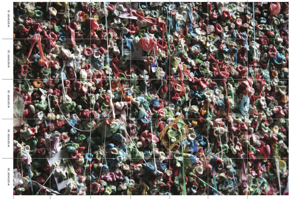 seattle gum wall by color