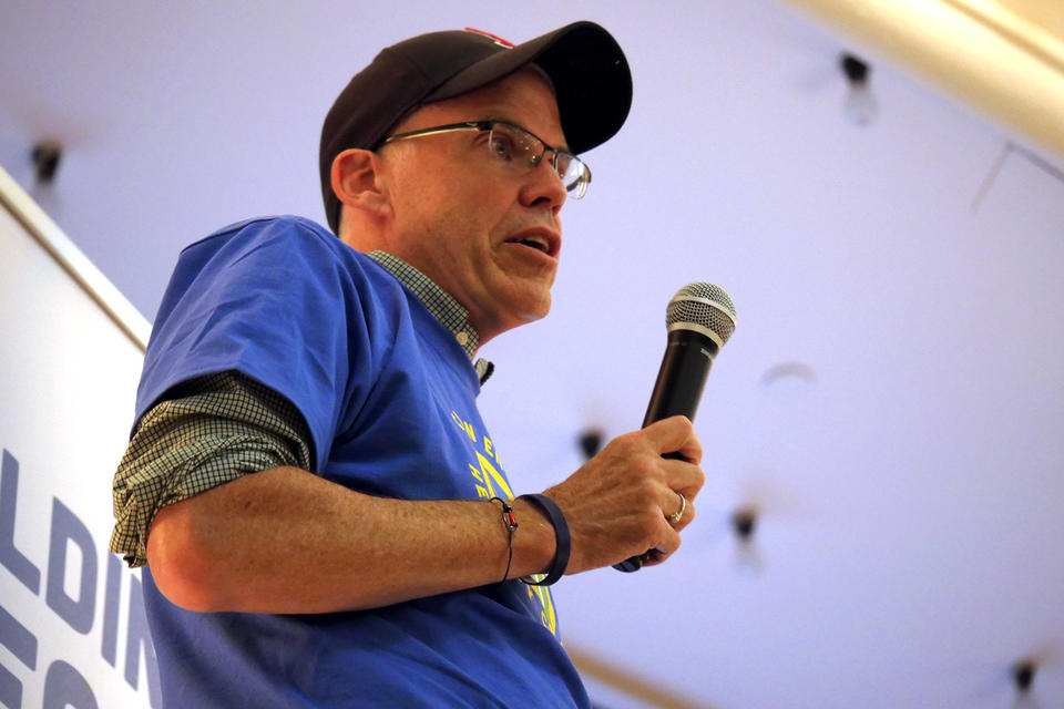 Bill McKibben at the mic