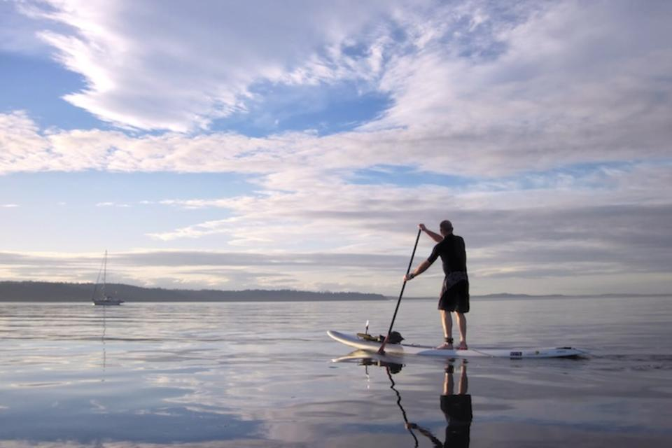 standup paddle boarder